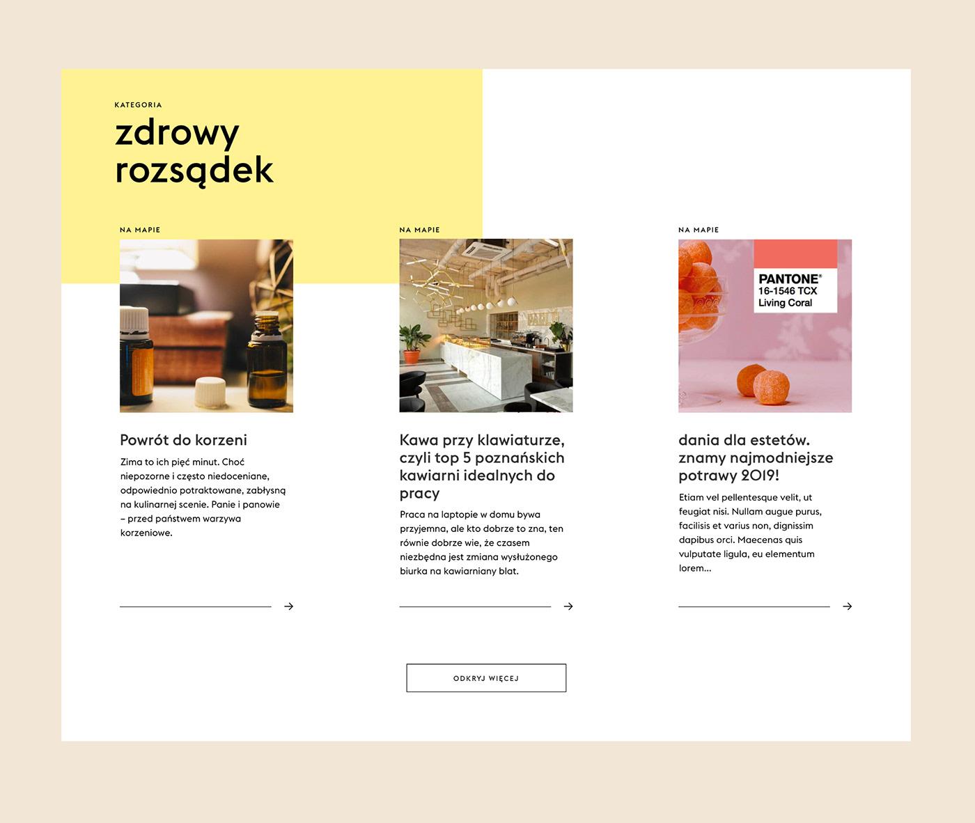 UI ux Food  Webdesign Layout Website kukbuk colors cooking