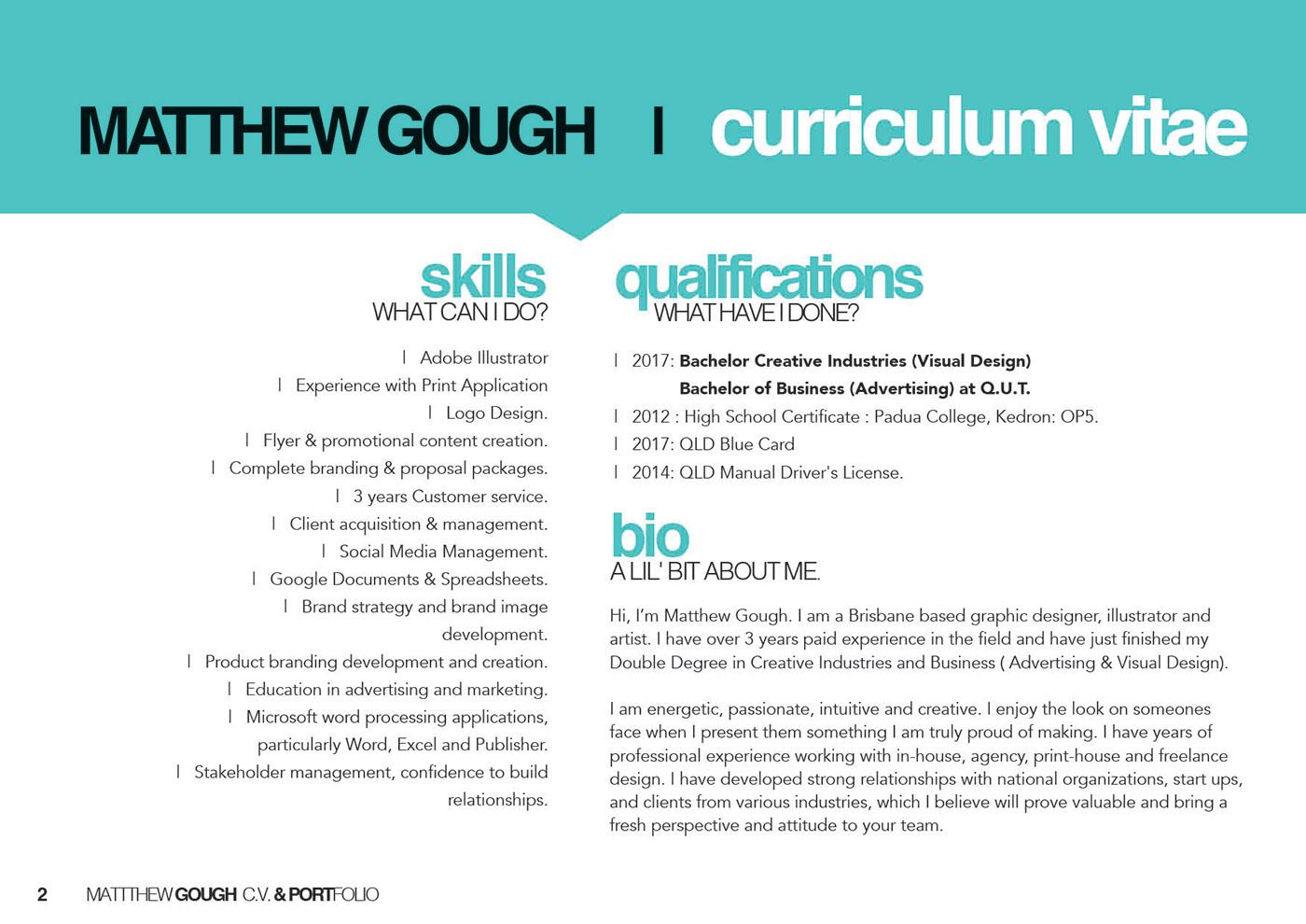 Matthew Gough - Portfolio Design on Behance