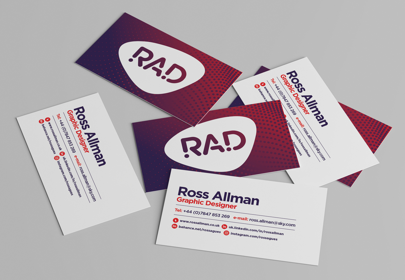 business card logo personal identity colours card