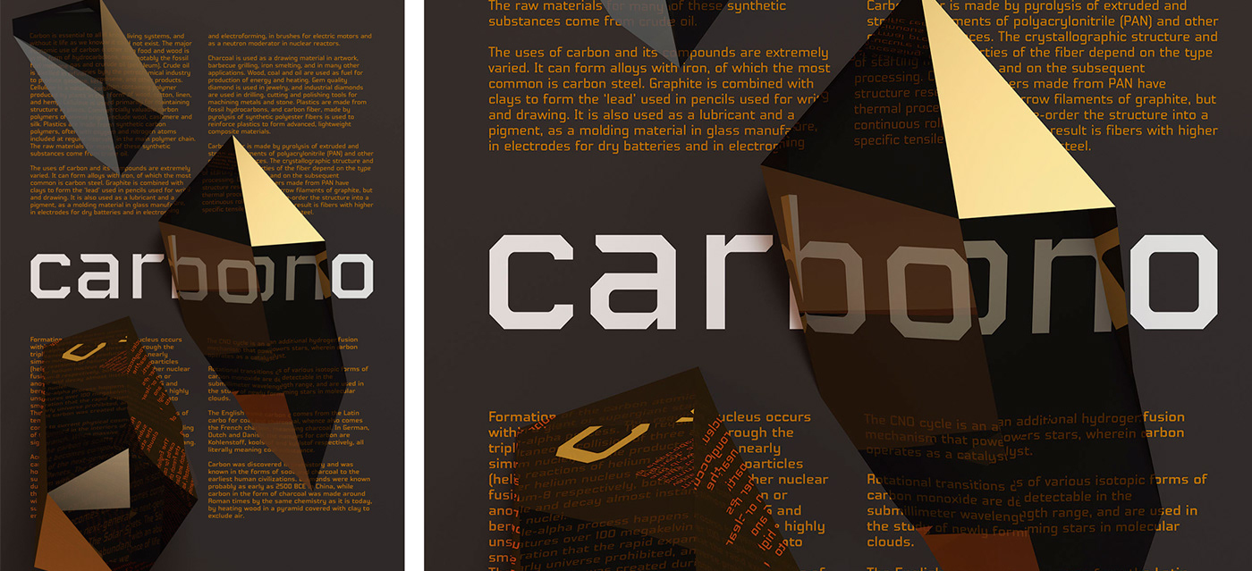 carbono variable font Display Typeface type text editorial Web design