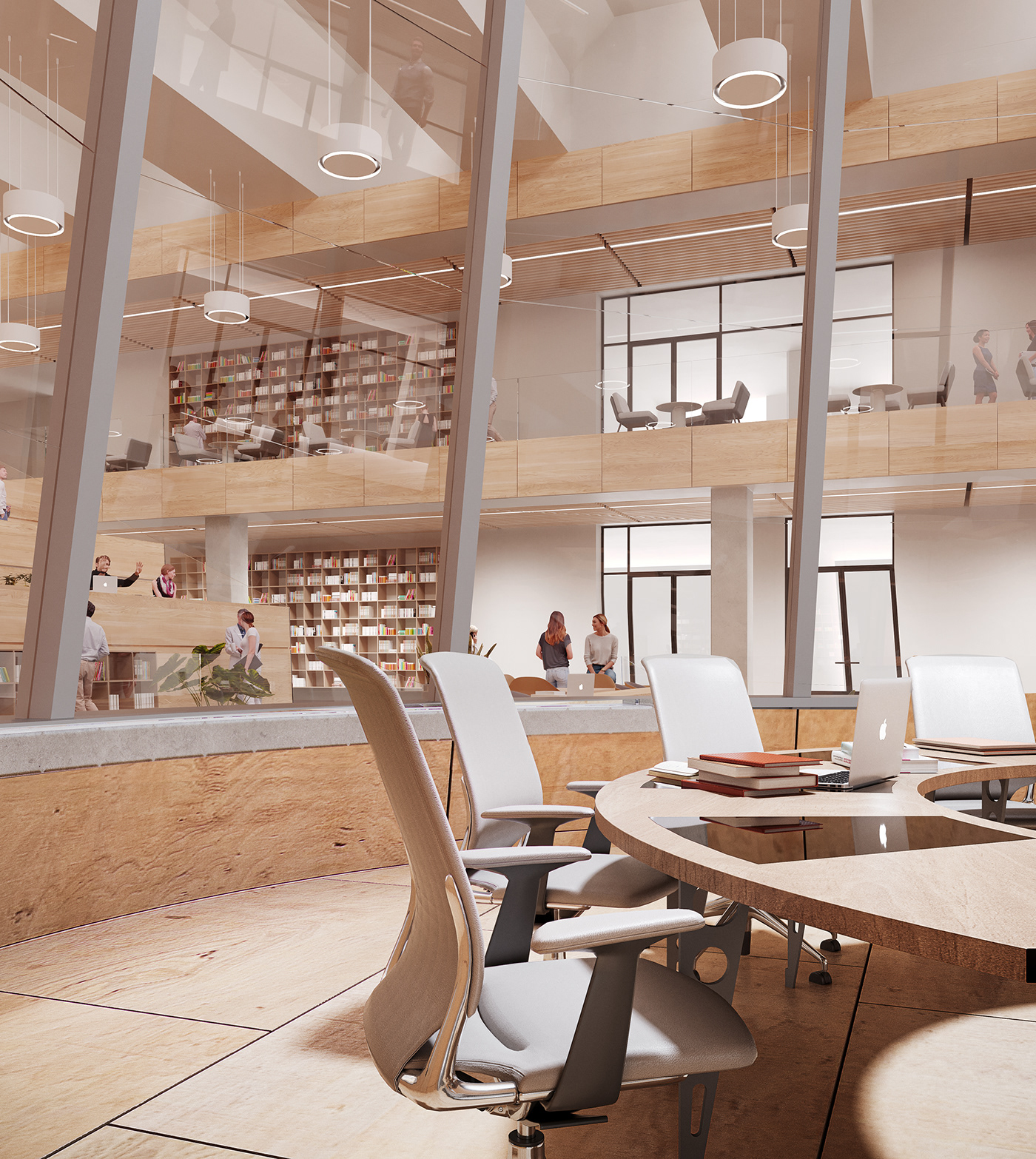 eskisehir green library Moody rendering University