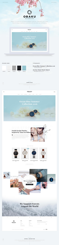 Website redesign obaku watch shop Ecommerce ui ux Denamrk  interaction inspire