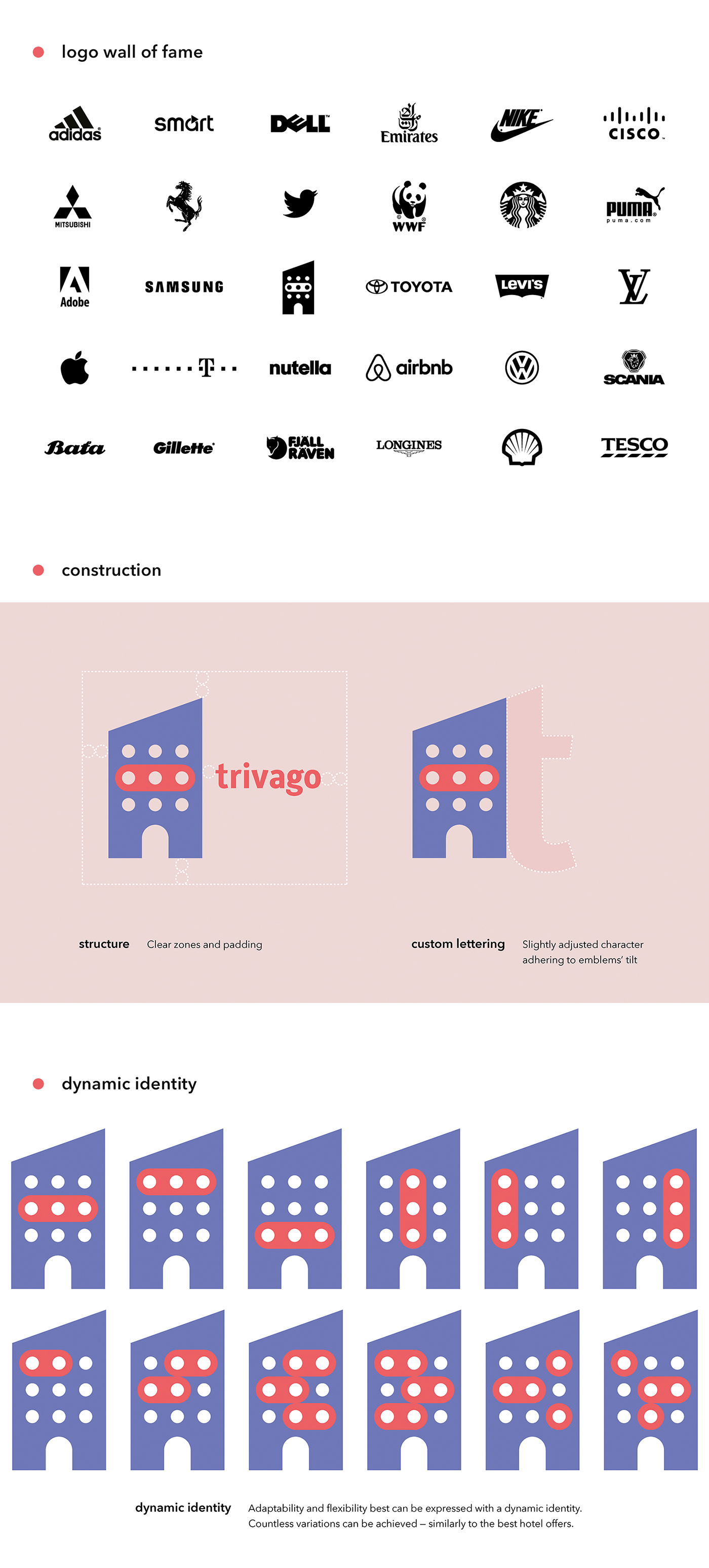 trivago rebranding case study on Behance