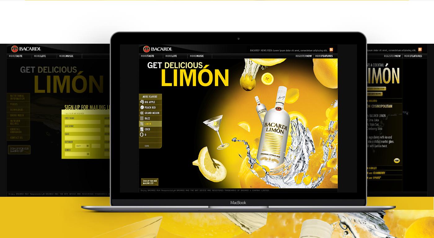 bacardi limon Bacardi Limon Spirits Rum cocktails