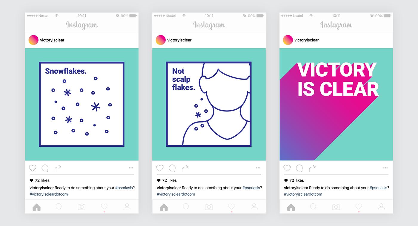 Advertising  art direction  graphic design  Pharma Psoriasis unbranded campaign print digital social