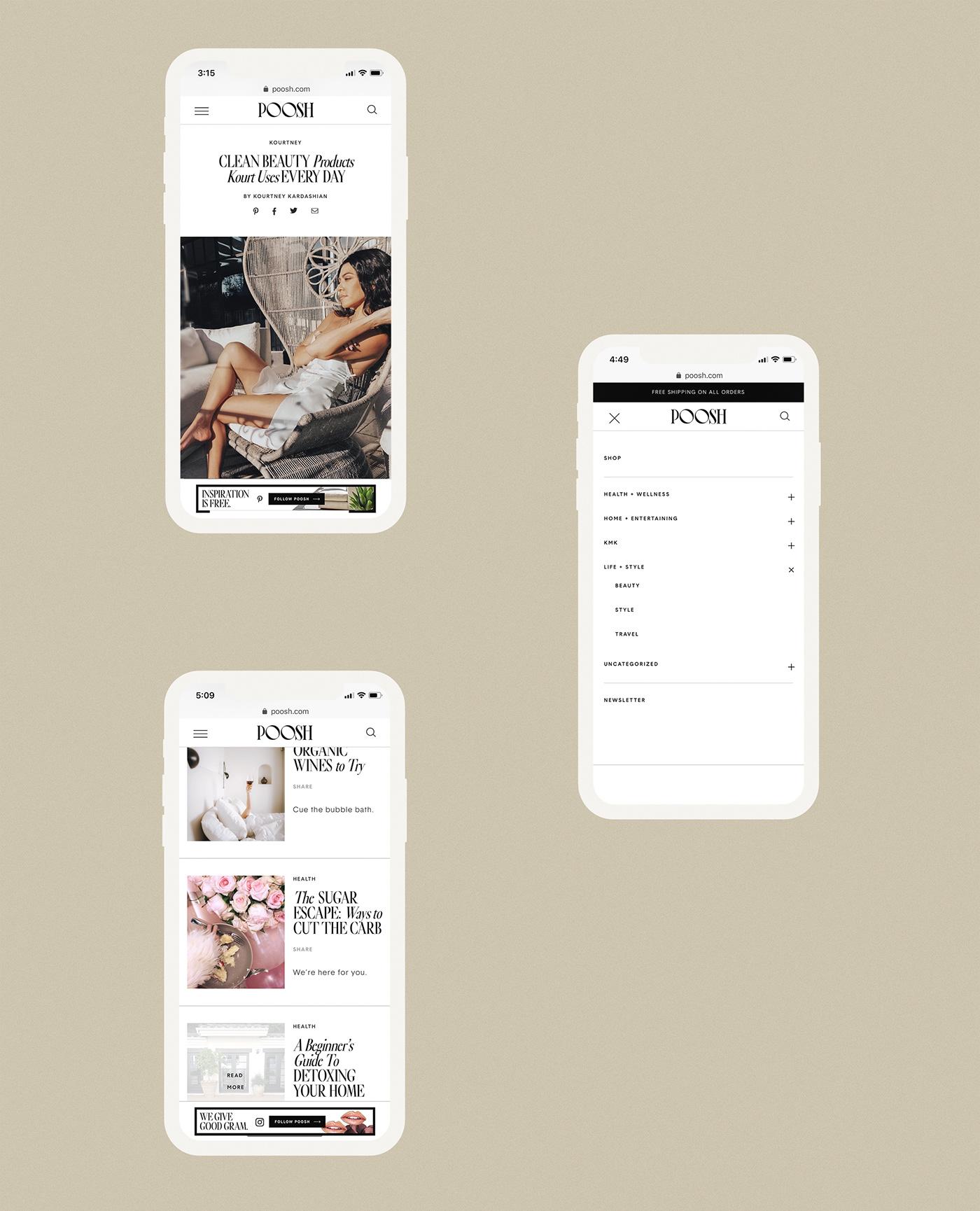 affiliate links Blog custom logo Instagram Templates mobile site typography   UI/UX Website Design wordmark wordpress
