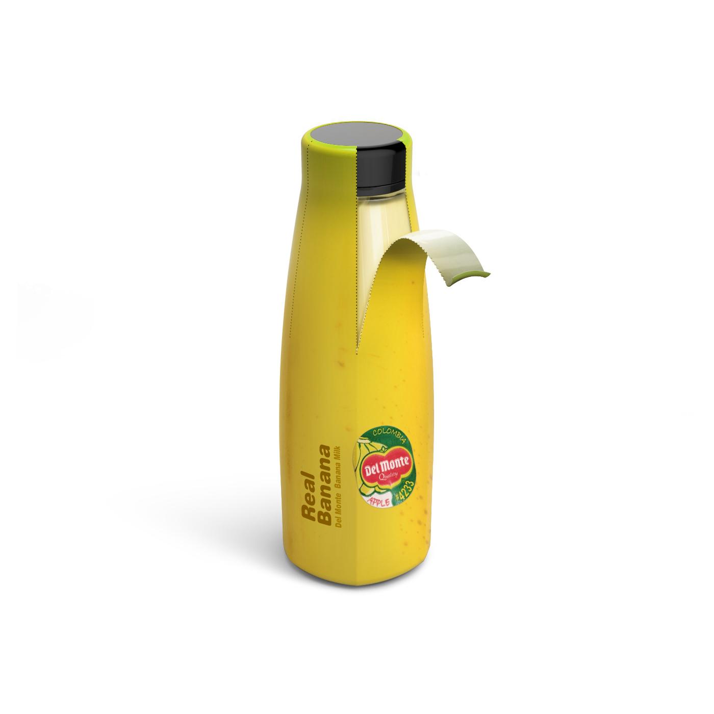 banana milk Real bottle