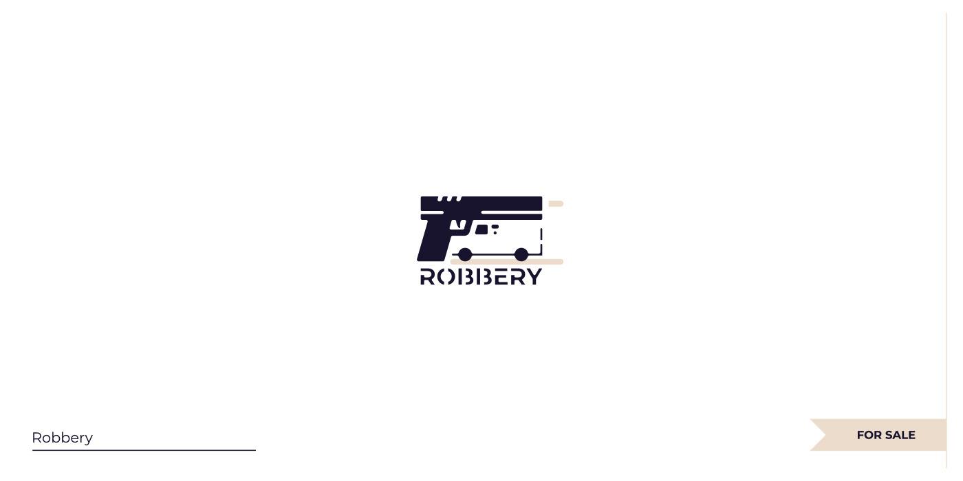 Negative space Gun + Truck logo.