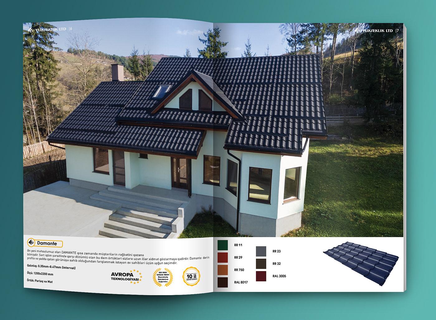Catalogue InDesign magazine journal roof azerbaijan baku Azerbaycan baki agency