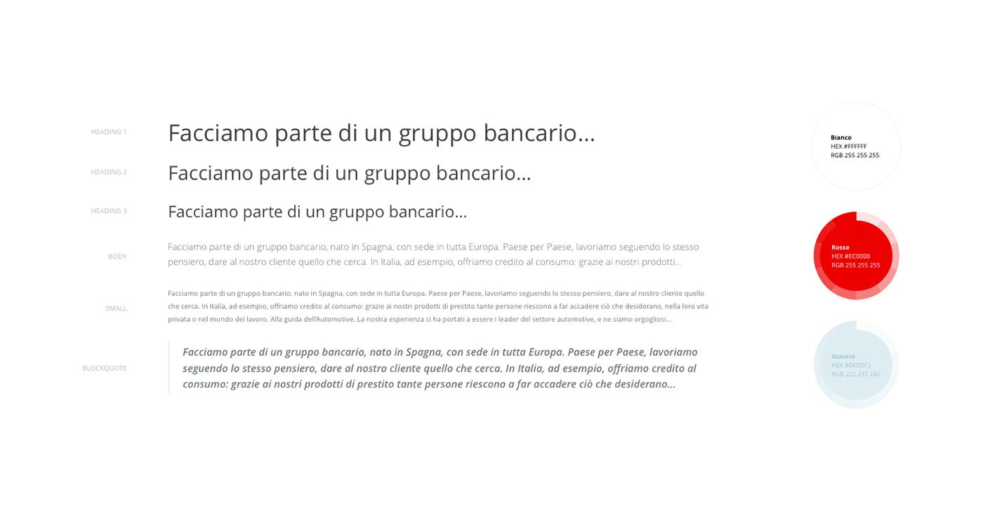 santander Bank red Website digital ux UI corporate light Experience