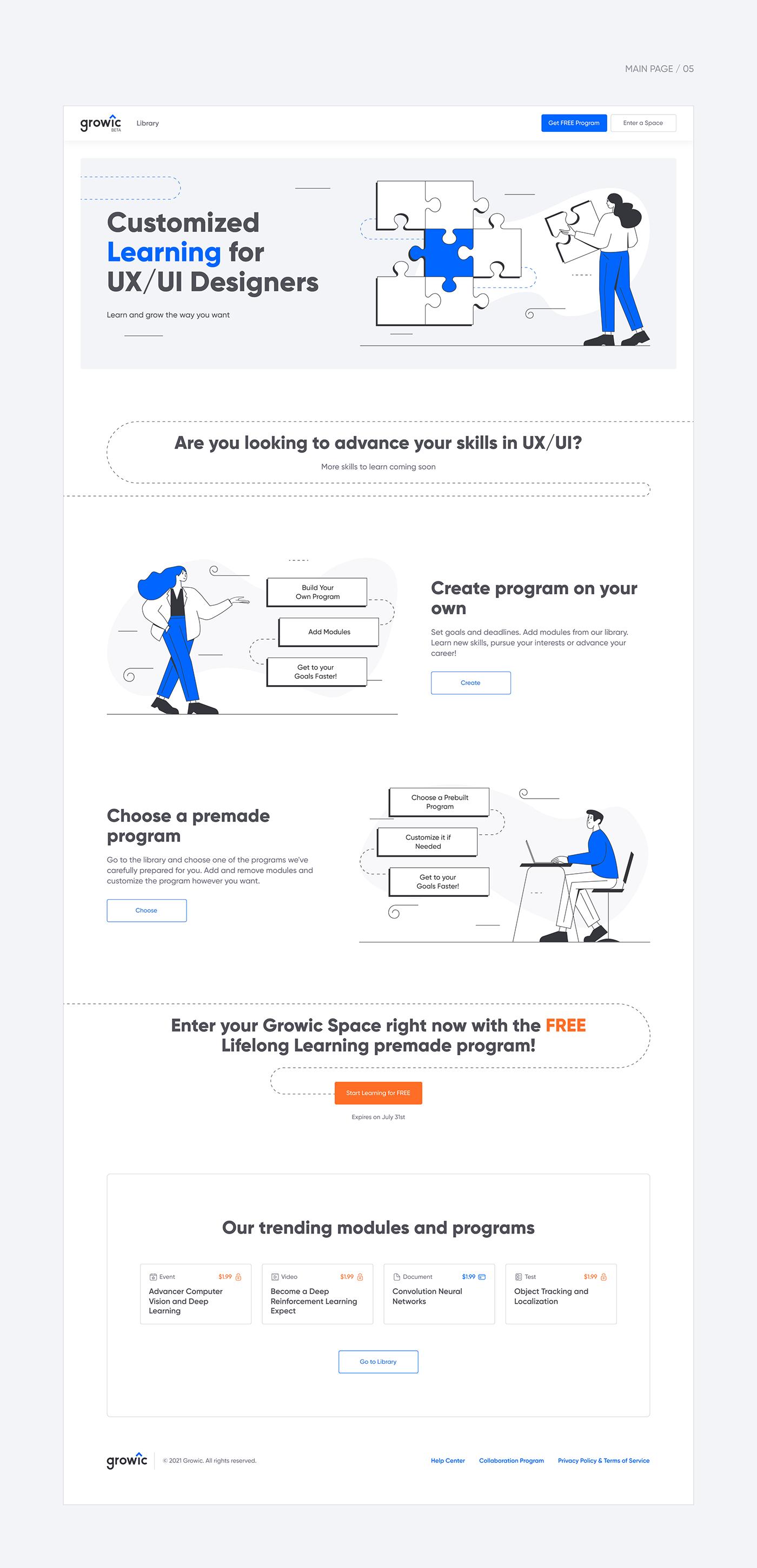 clean eLearning Interface Minimalism mobile UI UI/UX ux Web Design