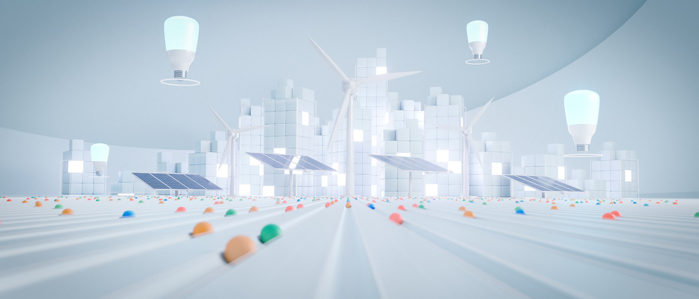 3D corporate electricity energy Marble minimal