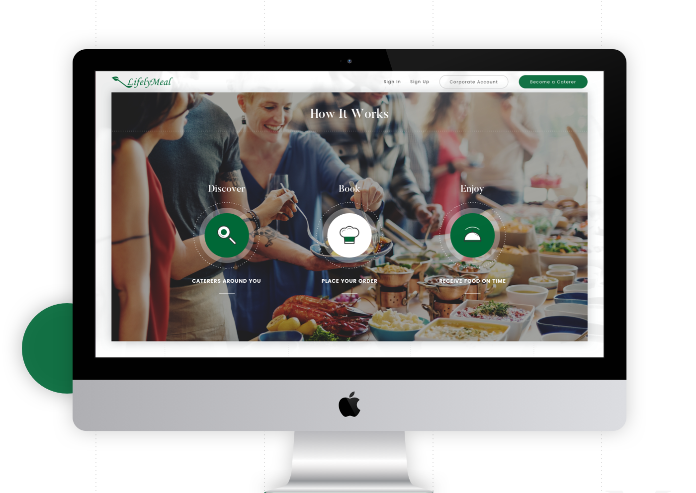 UI ux design animation  Food  sketch green Web catering