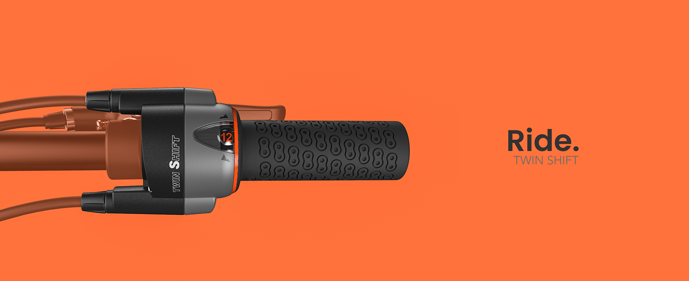 design produit product design  industrial design  Bike velo Bicycle grip Render Handlebar handle