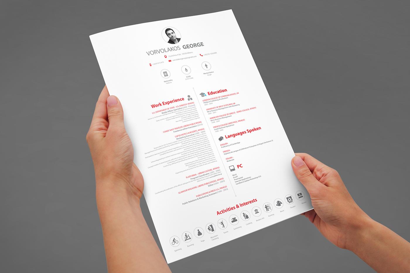高品質的23個履歷表設計欣賞