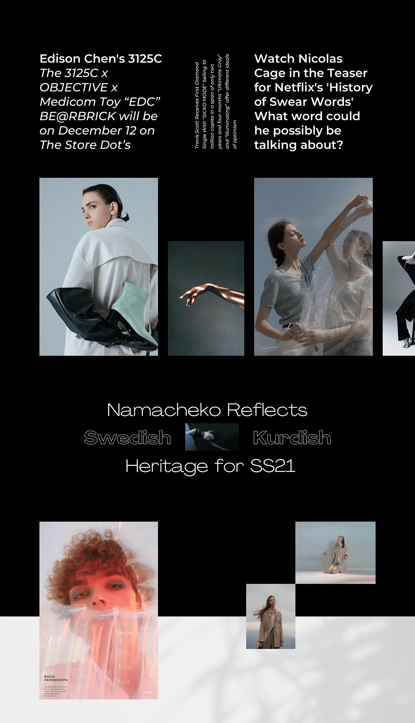 app clean dark Fashion  minimal modern White