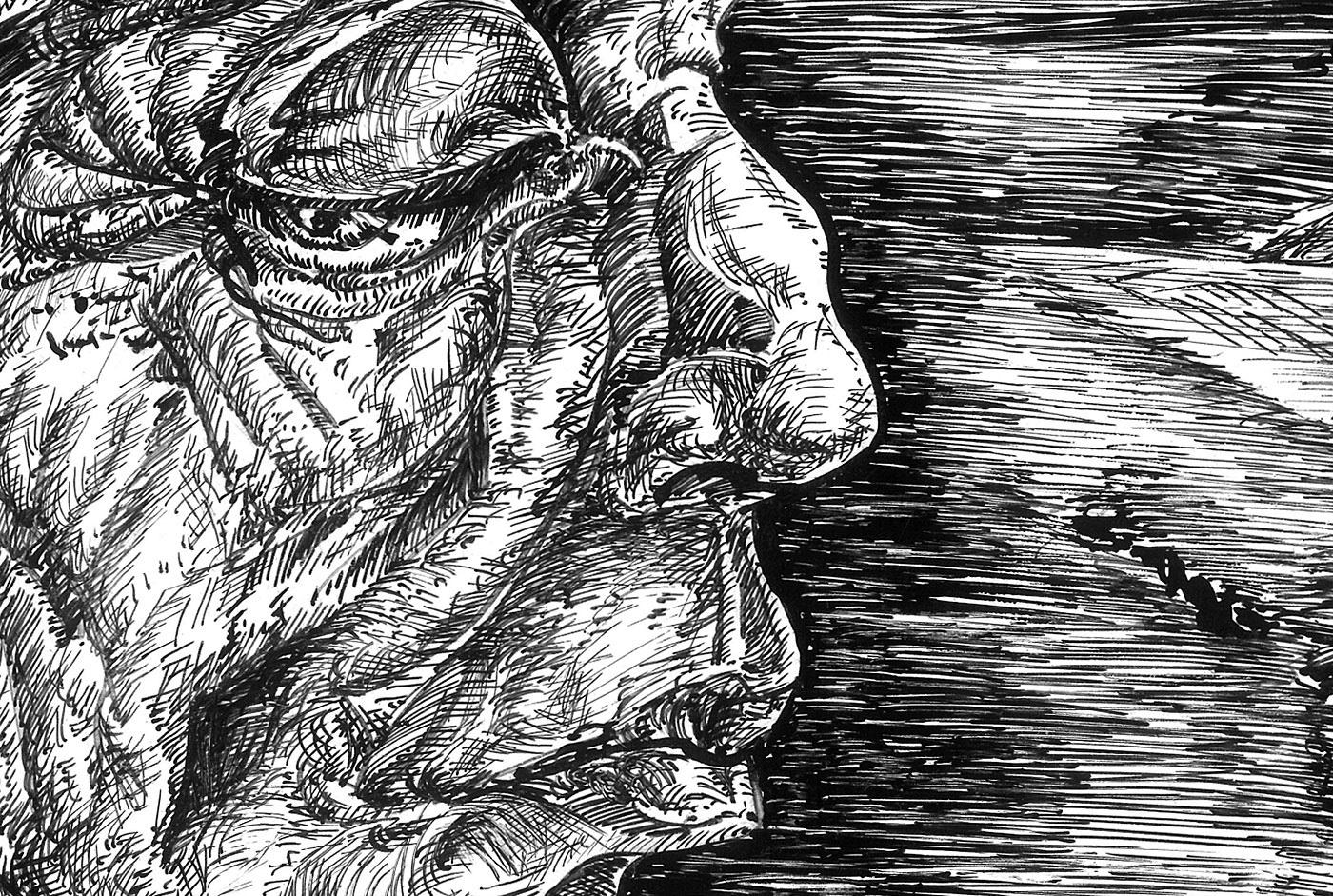 influence ink artwork invasion Emotional psychology philosophy  grotesque surrealism ILLUSTRATION