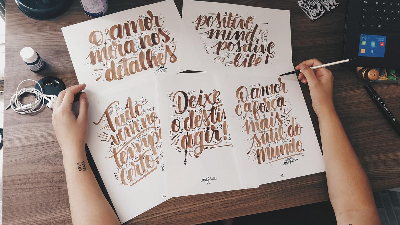 Calligraphy   Custom handmade ILLUSTRATION  lettering type