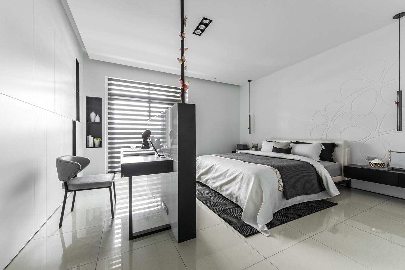 Interior design 奇承威設計 deco design guan pin space photography black angel