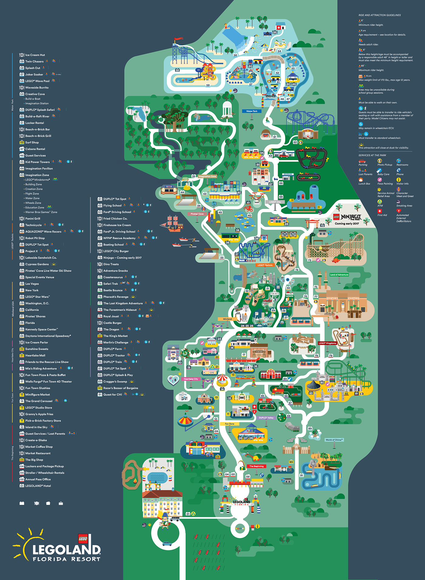Interactive Map Of Florida.Legoland Florida Map 2016 On Behance