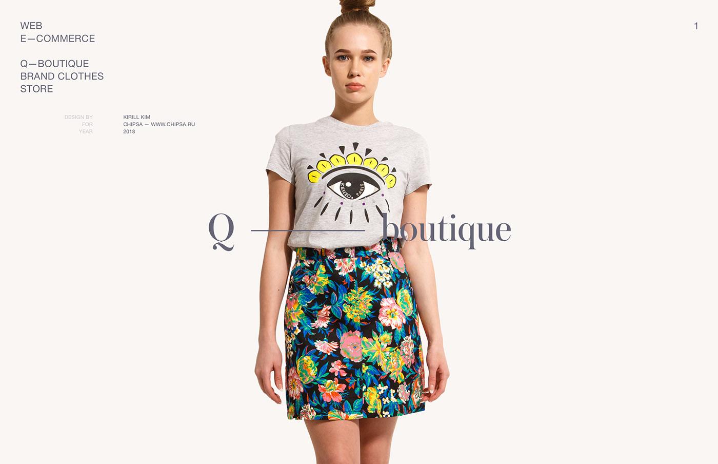 store Ecommerce clothes Fashion  Web site fullscreen