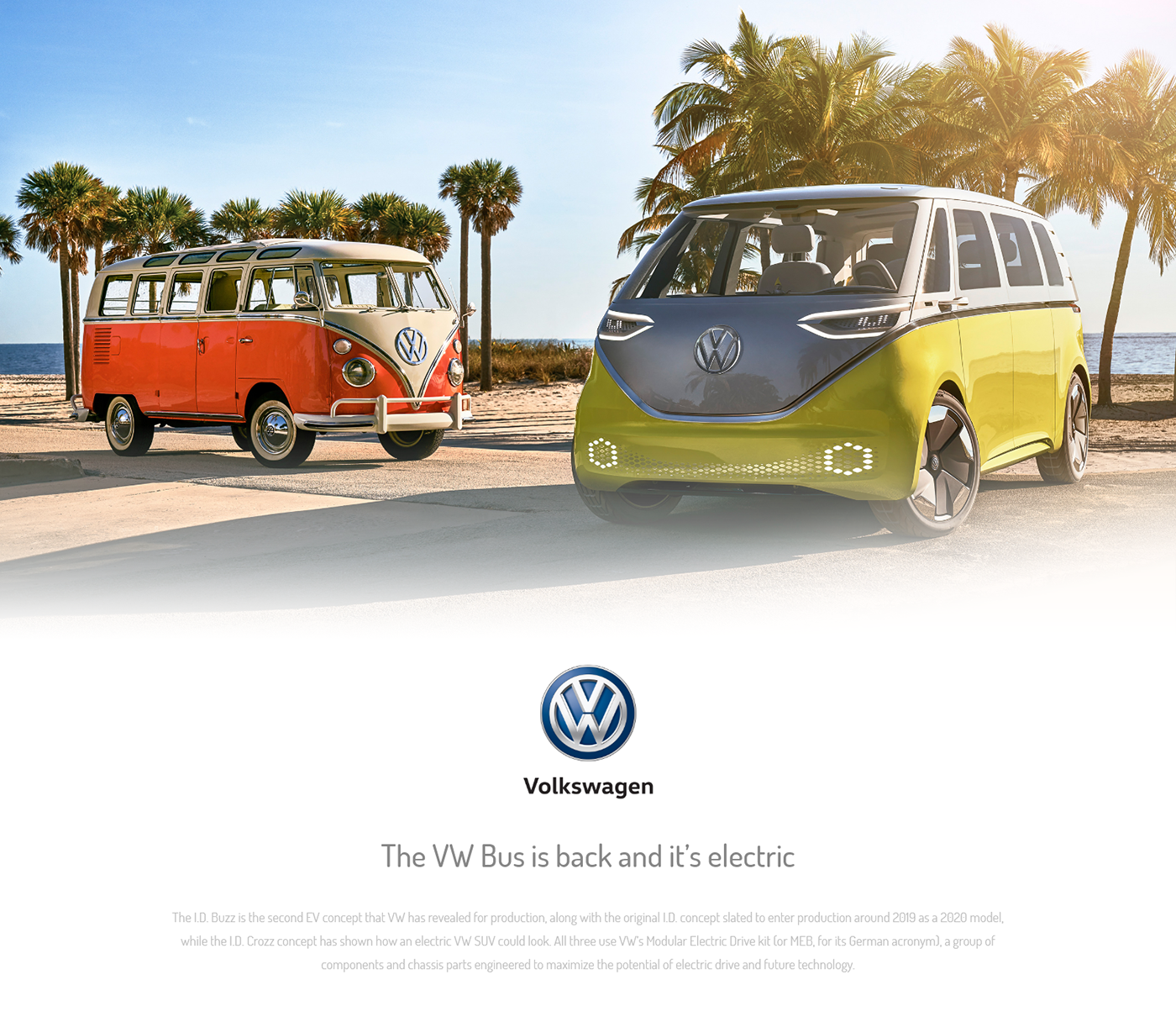 Volkswagen The Vw Bus Landing Page Design On Behance