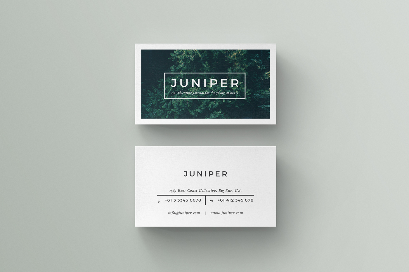 J u n i p e r business card on behance for Photo business card template