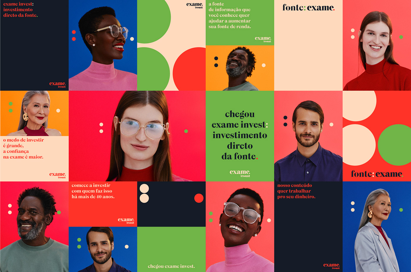 colorful commercial Exame Invest happy Investments people portrait