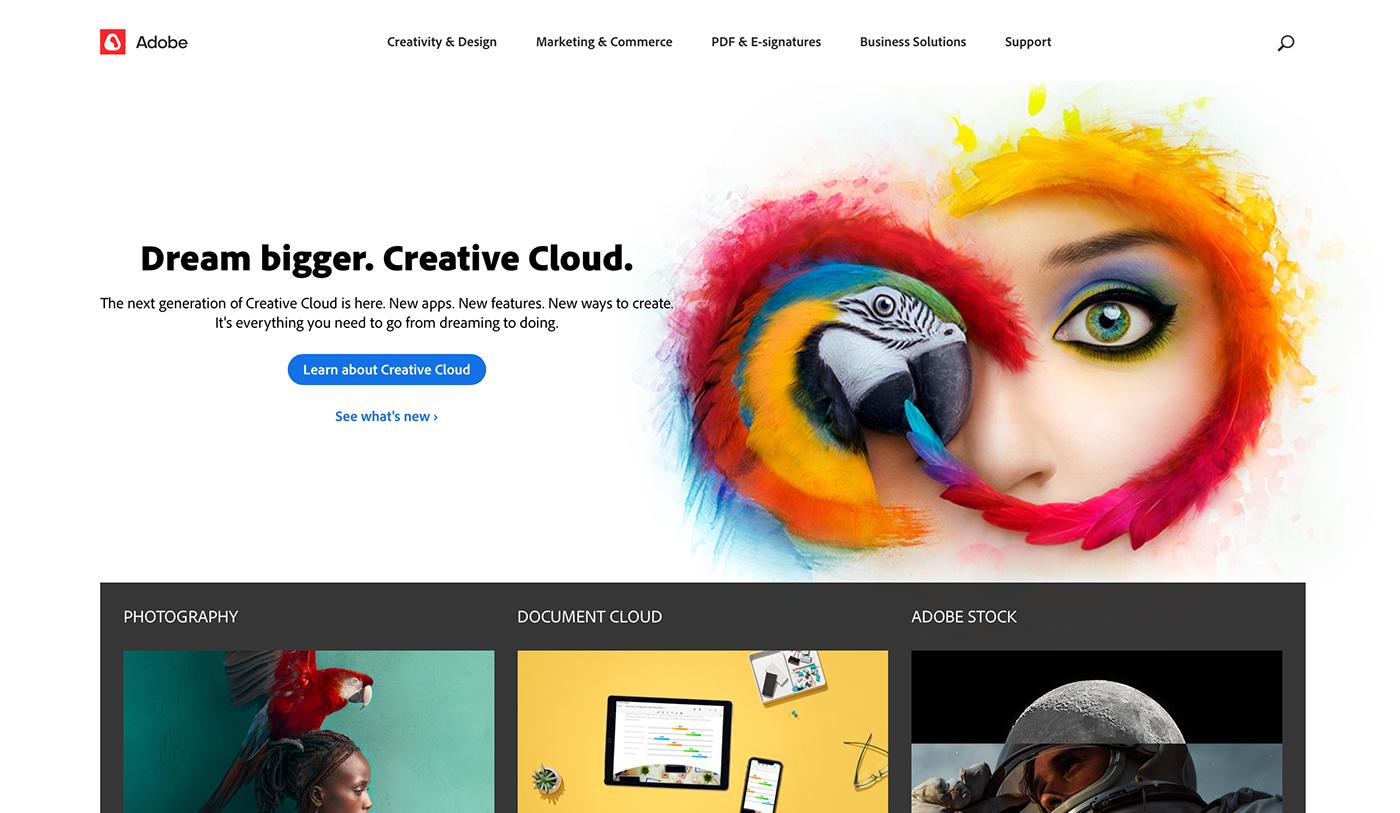 adobe logo photoshop rebranding brand branding  concept red