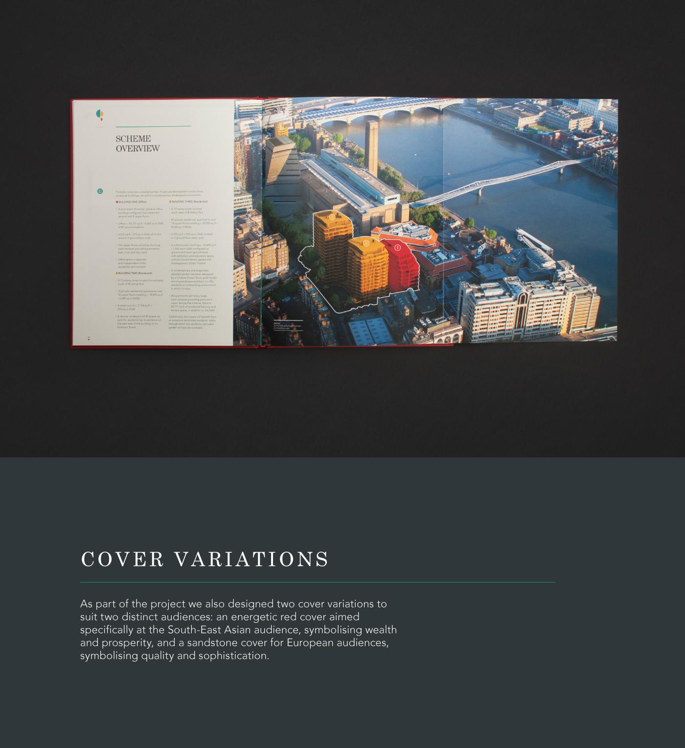 branding  brochure graphic design  editorial property luxury print minerva Parkside London
