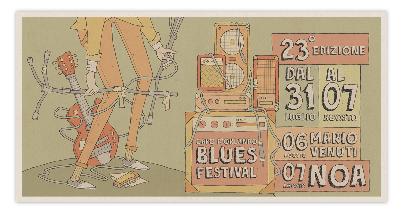 ILLUSTRATION  Photography  blues festival colors music graphics design branding  Drawing