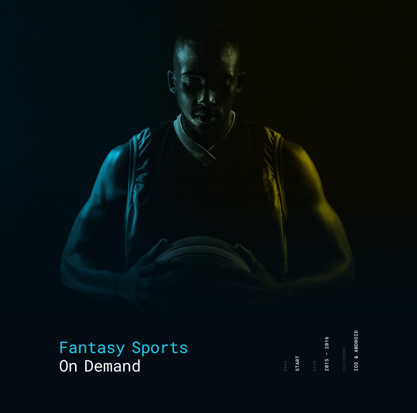 start daily start app fantasy sports Fantasy App basketball app STRV strvcom ales nesetril dark ios ui dark ui