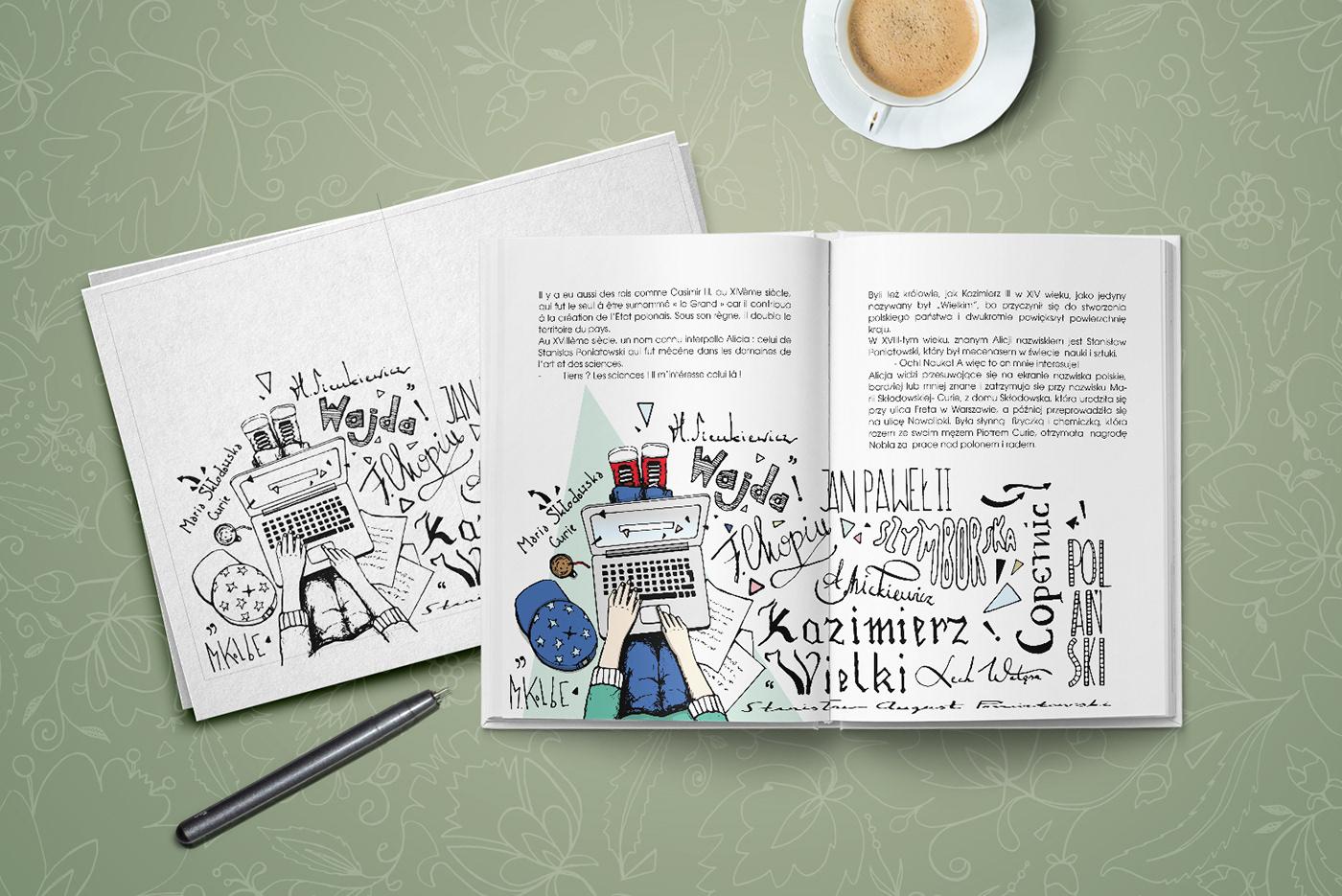 ILLUSTRATION  livre book polska pologne childrensbook ink watercolor dessin forkids
