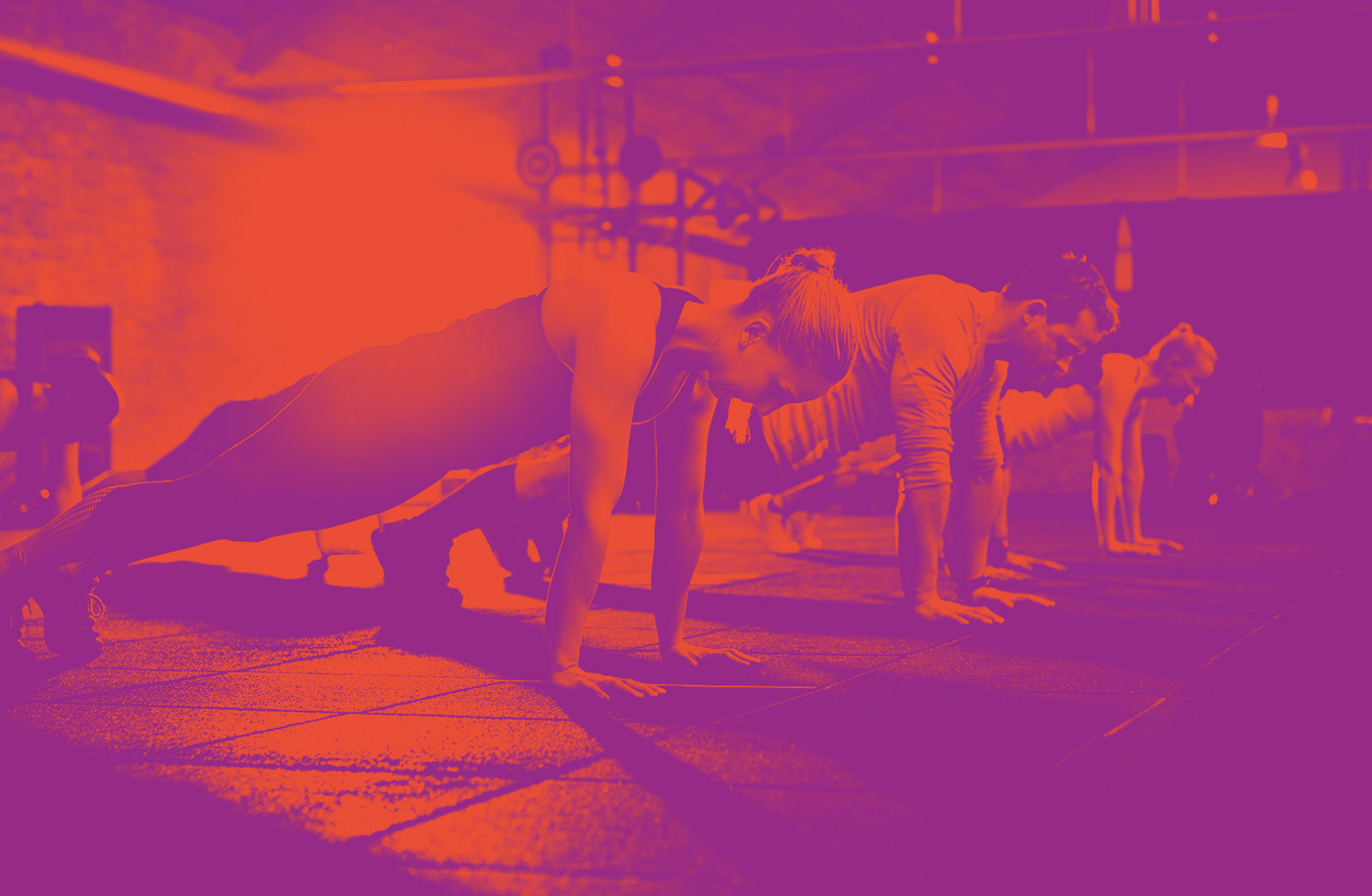 Upper gym training functional Crossfit orange fitness