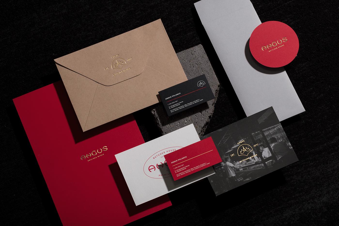 bar,branding ,foil,identity,mexico,print,redesign,restaurant,stationary,steak