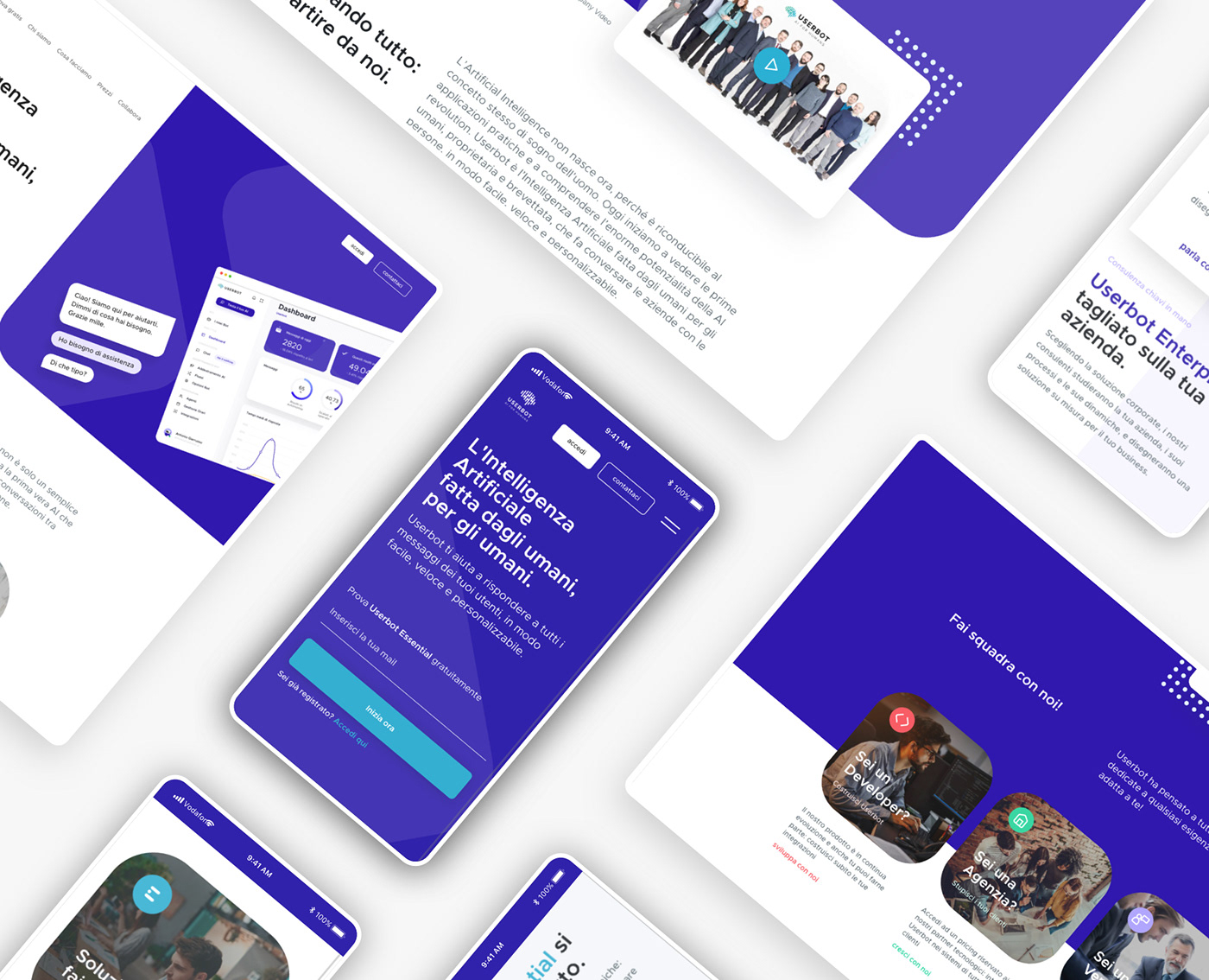 artificial intelligence clean design Interaction design  redesign SAAS UI ux Web Web Design