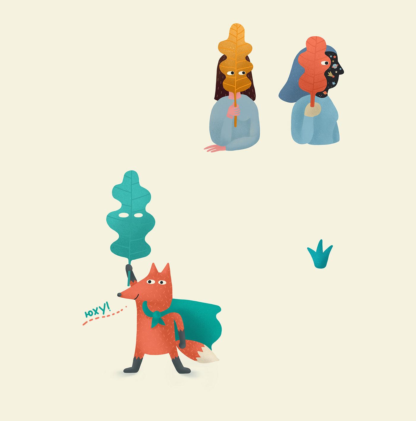 animal bear golf rabbit leaf forest ninadz dzivulskyi letter Introvert