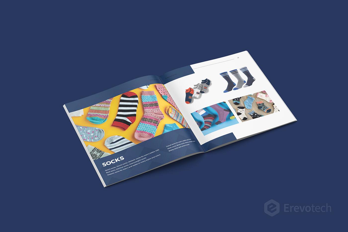 socks brochure design