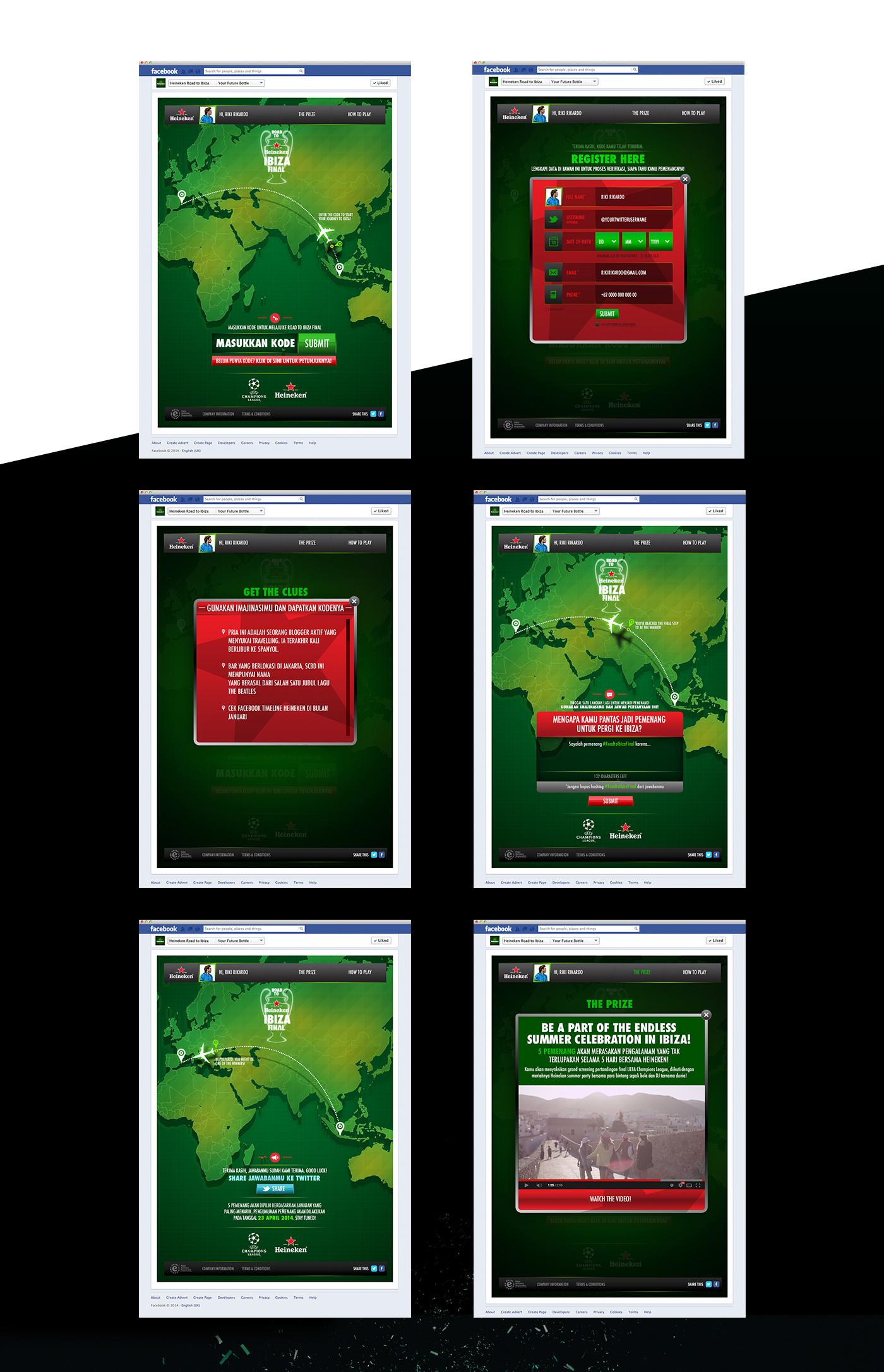heineken ibiza UCL football champion UI user interface ux user experience Rise Indonesia