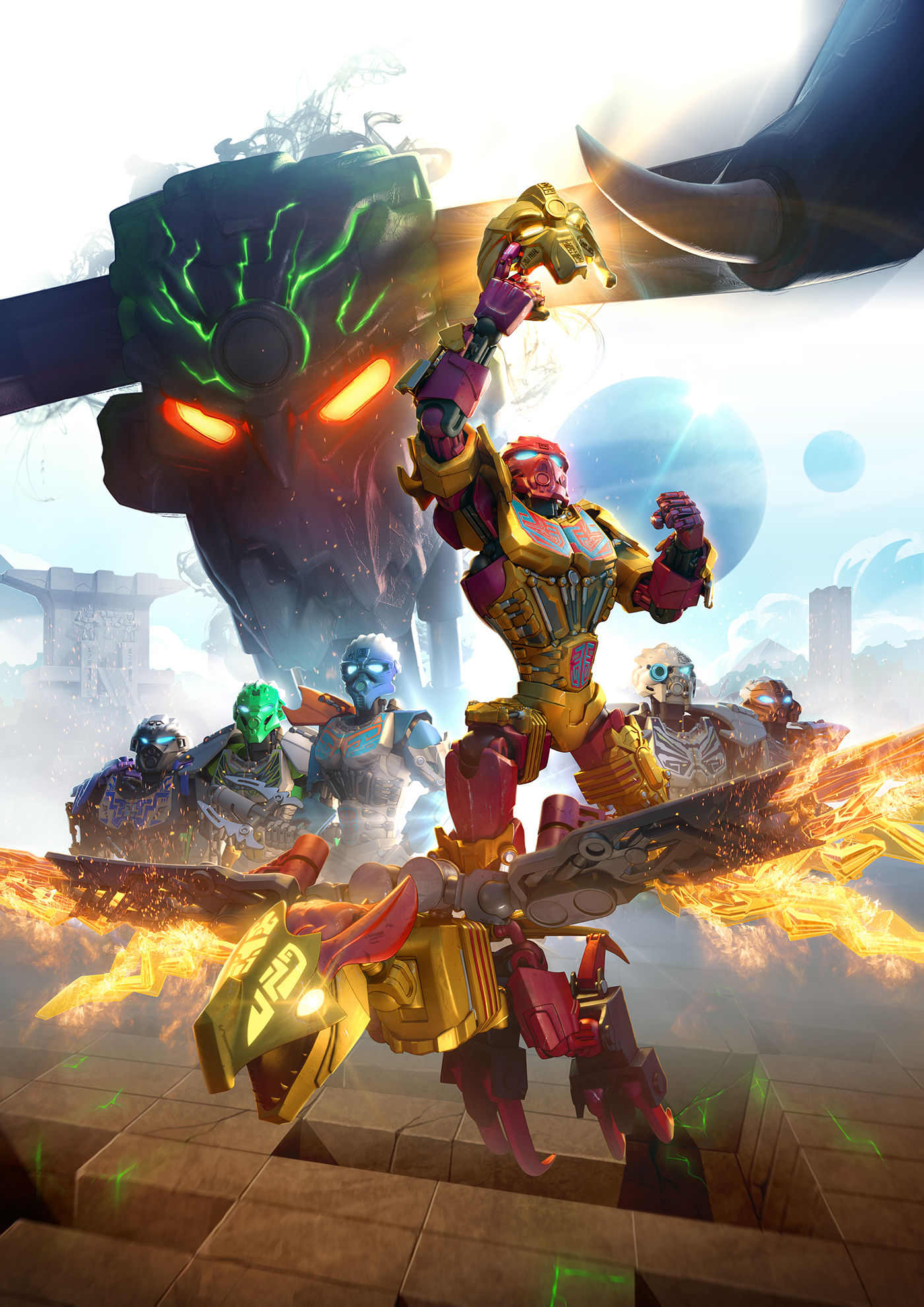 Lego - Bionicle JtO: Promo poster 1 on Behance