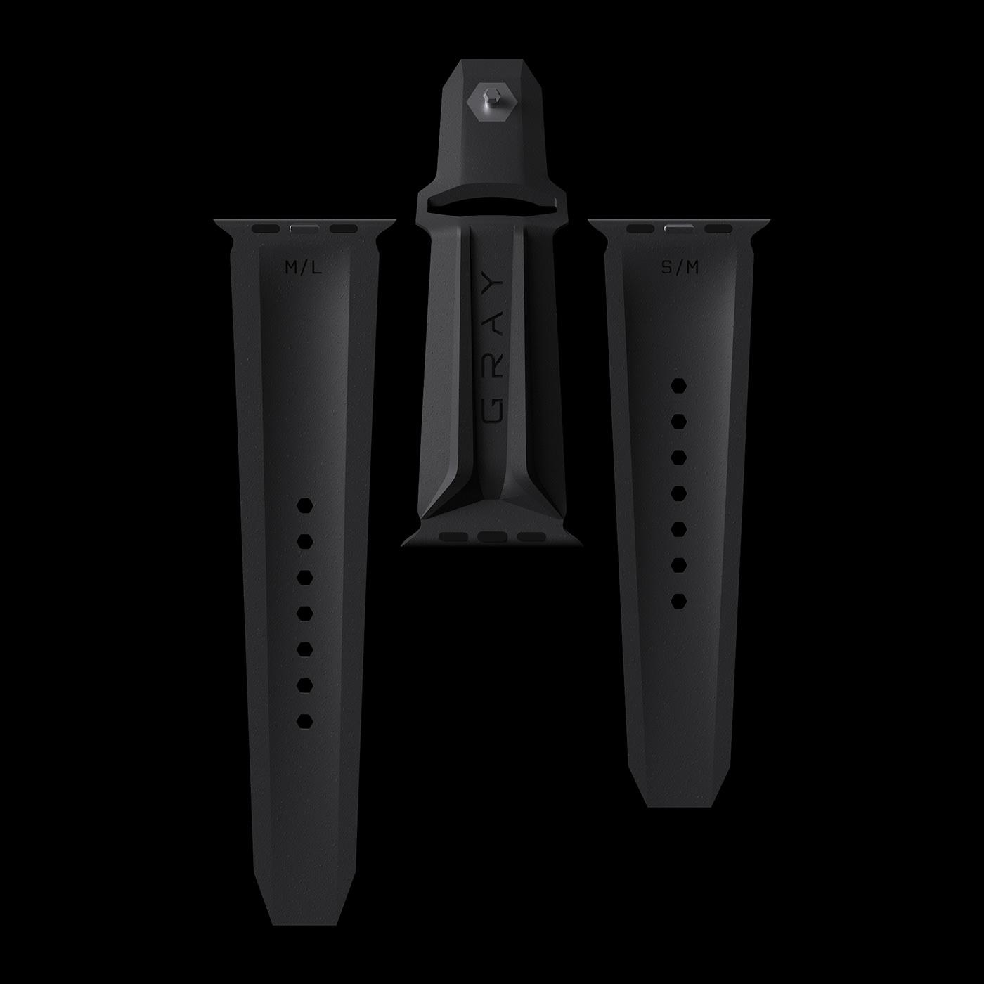 apple luxury Titanium watch particles simulation smoke
