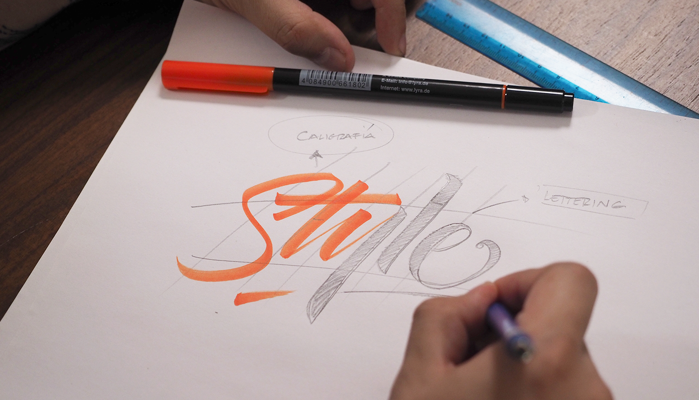 domestika lettering Calligraphy   design caligrafia typography   letters art