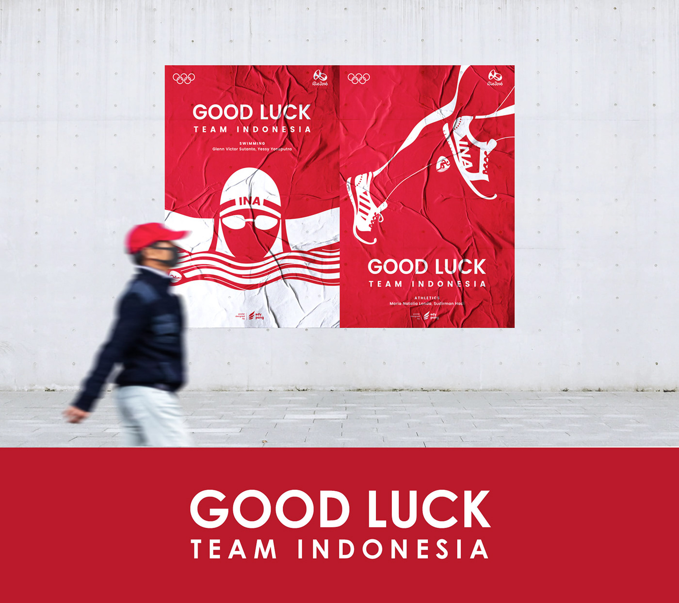 Olympics poster sports indonesia rio 2016