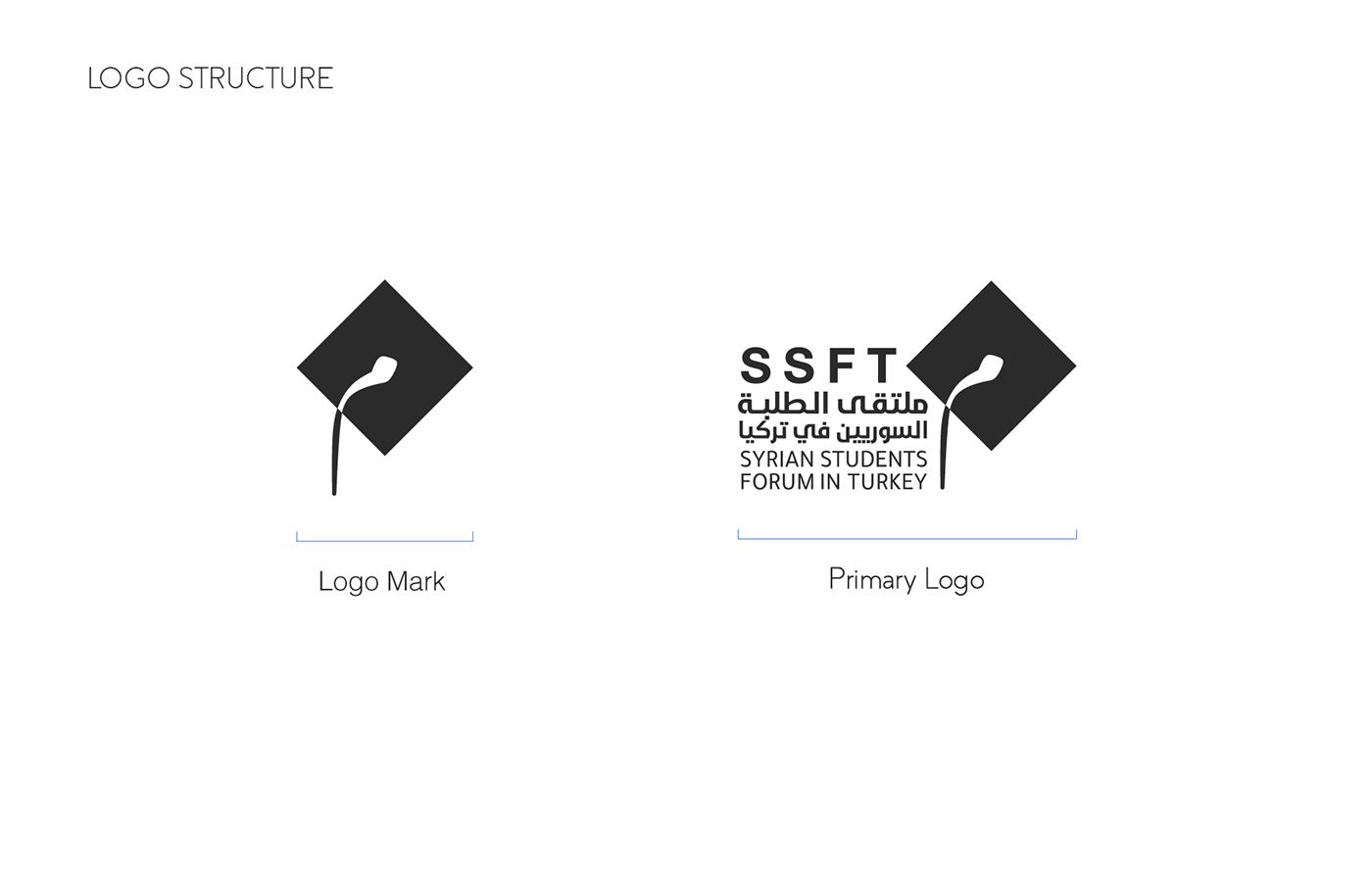 blue brand forum logo Students Syrian Studnets creative Logo Design Syria Turkey