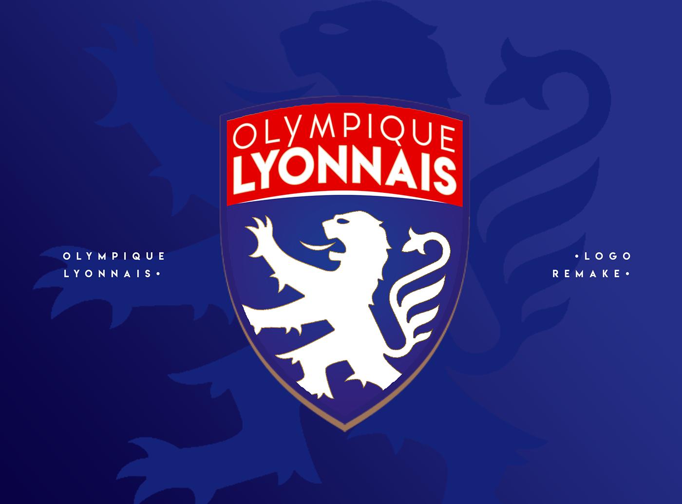 Olympique lyonnais logo remake on behance - Logo olympique lyonnais ...