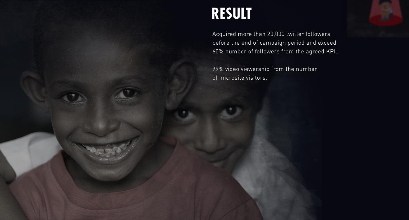 unicef ureport campaign children indonesia twitter Website instagram video UI ux Rise Indonesia
