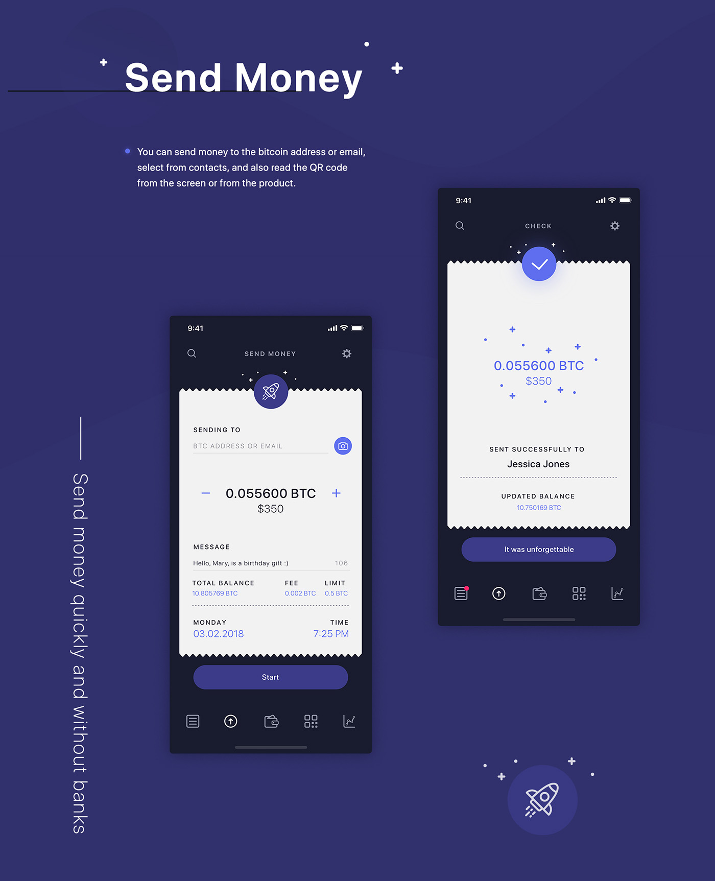 WALLET,ios,app,crypto,bitcoin,UI,ux,cryptocurrency,ethereum,ripple