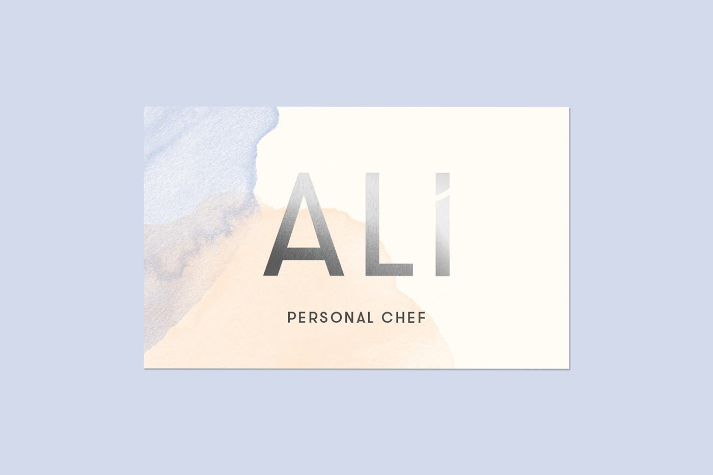 Personal chef business cards on behance ali greenberg is a personal chef who cooks in home meals for an upscale clientele she has an amazing fun personality that needed to come colourmoves