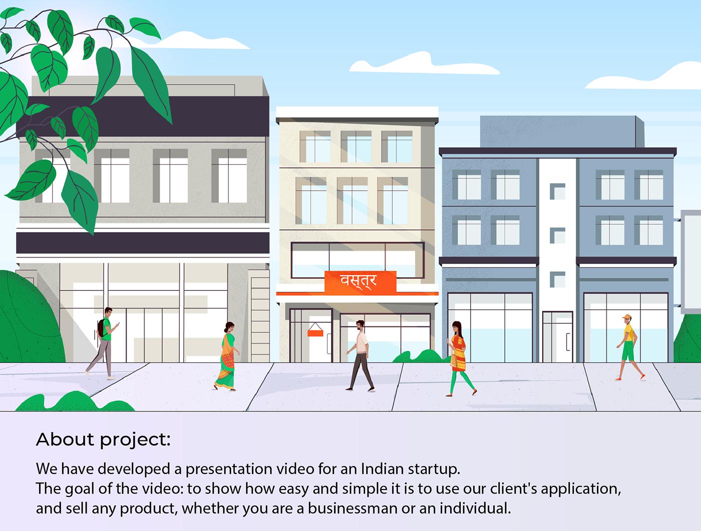 2D animation  app character animation design explainer video promo sales Startup Web