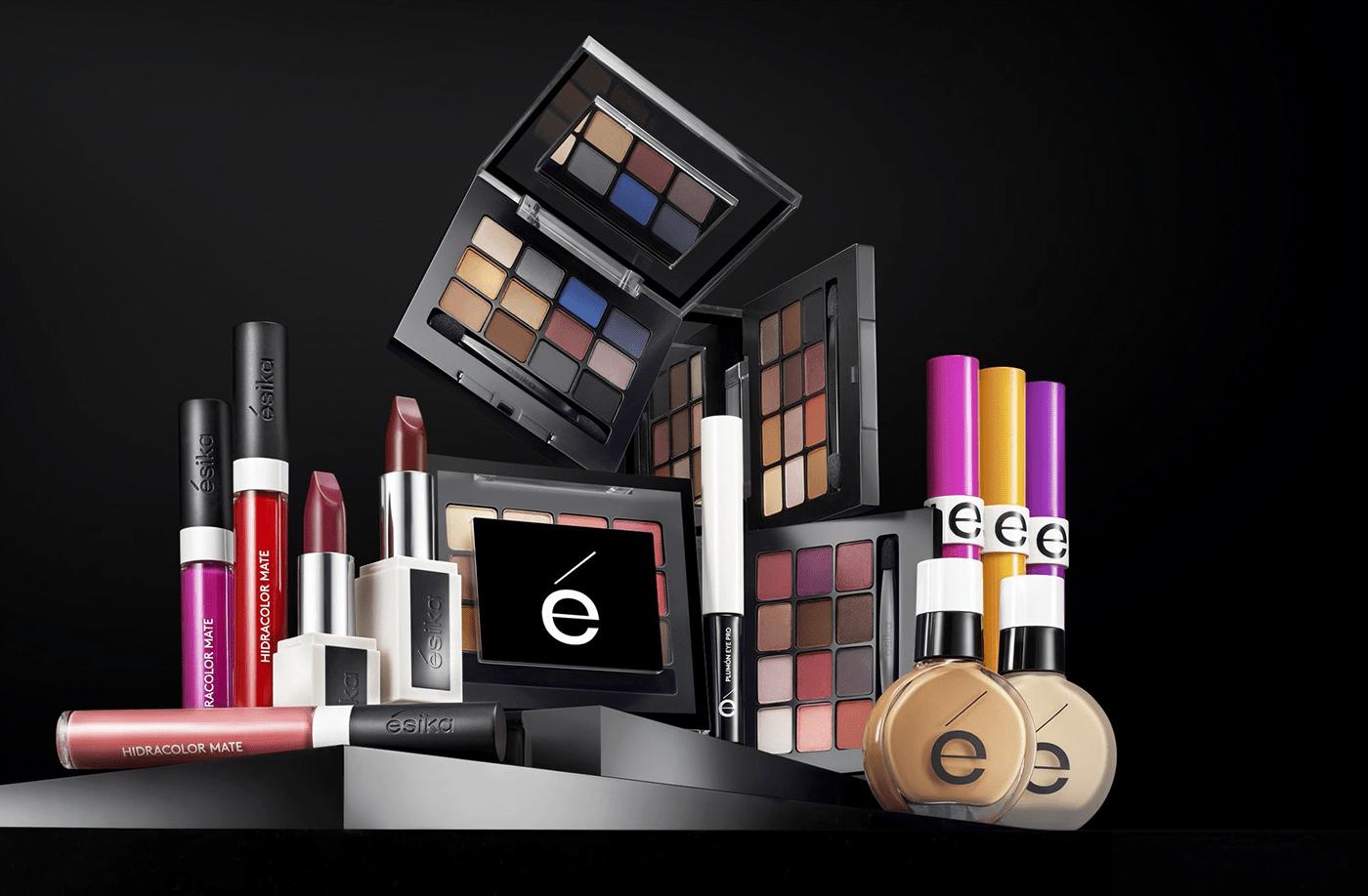 3D Adobe Portfolio Advertising  animation  beauty colors cosmetics makeup product tv